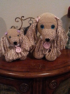 Ravelry Crochet Cocker Spaniel Dog And Puppy Pattern By