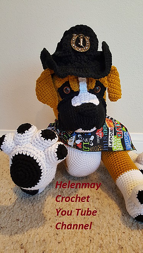 Amigurumi Boxer Dog : Ravelry: Crochet Amigurumi Boxer Dog pattern by Helen Brady
