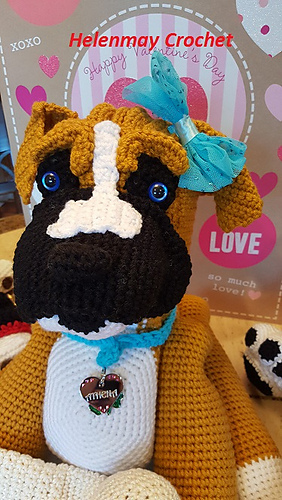 Ravelry Crochet Amigurumi Boxer Dog Pattern By Helen Brady