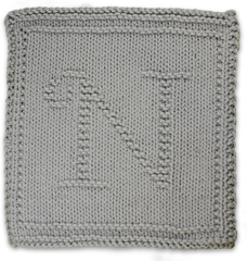 Ravelry: Monogrammed Dishcloth Letter N pattern by Heather ...