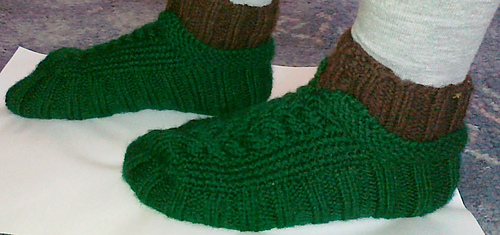 Ravelry Cabled Cozies Slippers Pattern By Stacey Gerbman