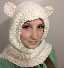 Bear Cowl Knitting Pattern Free : Ravelry: Hoodie Cowl pattern by Christine Rosen