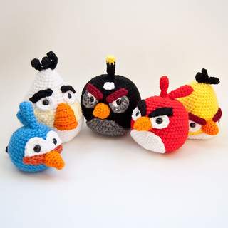 Knitted Childrens Slippers Free Pattern : Ravelry: Angry Birds Cardinal pattern by Karla Fitch