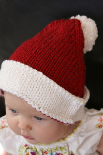 Knitting Pattern For Infant Santa Hat : Ravelry: Santa Baby Hat pattern by Erika Neitzke