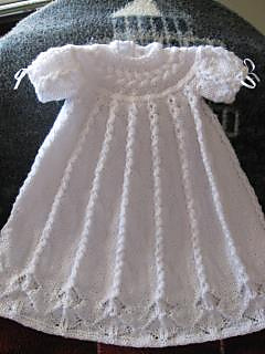 Free Knitting Pattern For Christening Dress : Ravelry: Cabled Yoke Christening Gown pattern by Judy Lamb