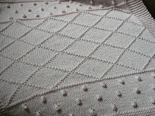 Ravelry: Knit Bobble / Lattice Baby Blanket pattern by Jessica Stone