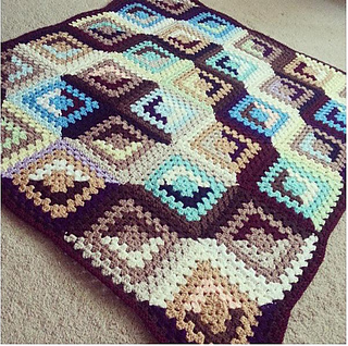 Free Crochet Patterns For Quilts : Ravelry: Good and Evil Granny pattern by Danielle Day-Hines