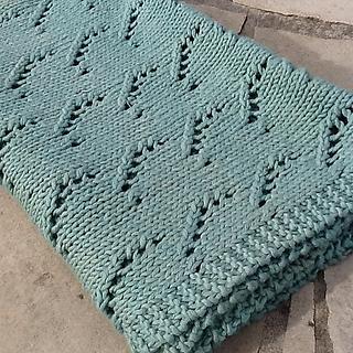 Easy Knit Lace Blanket : Ravelry: Simple Lace Baby Blanket pattern by Jennifer Knight