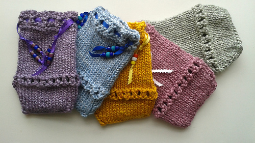 Knit Pattern Tarot Bag : Ravelry: Eyelet Tarot Bag pattern by Joy Vernon