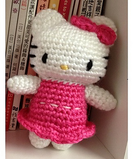 Hello Kitty Doll Toy Knitting Pattern : Ravelry: Hello Kitty in Pink Dress pattern by DDs Crochet