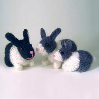 Knitting Patterns For Pet Rabbits : Ravelry: Knitted pet bunny rabbits pattern by Kath Dalmeny
