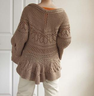Knitting Pattern Peplum Cardigan : Ravelry: #33 Peplum Cardigan pattern by Nanette Lepore
