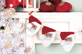 Ravelry Santa Bunting Pattern By Kim Dickinson