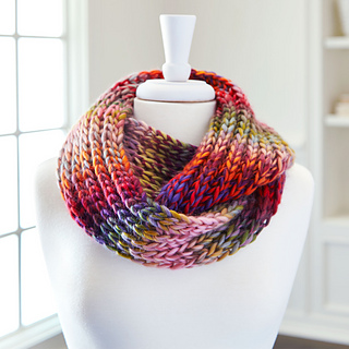 Ravelry: Facets Infinity Knit Scarf pattern by Loops & Threads  Design Team