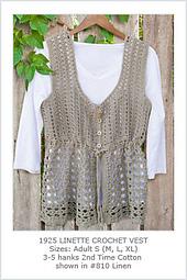 Linette Crochet Vest PDF
