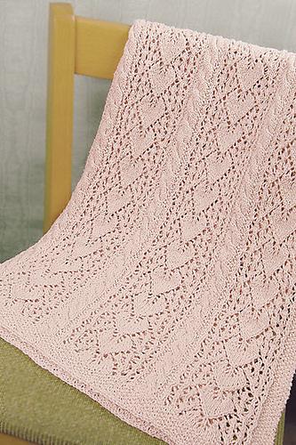 Heirloom Hearts Baby Blanket Pdf At Fiberwild Knitting Yarns