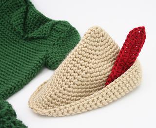 Free Knitting Pattern Robin Hood Hat : Ravelry: Robin Hood Peter Pan Costume pattern by Brandie ...