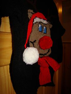 Ravelry: Christmas Novelty Rudolph Reindeer Jumper / Sweater Knitting Pattern...