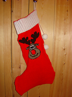 Ravelry: Christmas Rudolph Reindeer Stocking Knitting ...