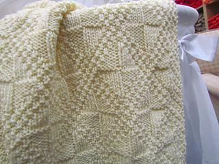 Reversible Cable Knit Afghan Pattern : Ravelry: Twinkle Of My Eye Reversible Baby Blanket pattern by Krista Werbil