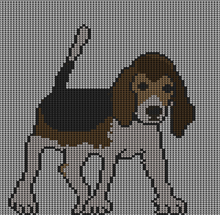 Ravelry: Beagle dog intarsia knitting pattern pattern by irene court