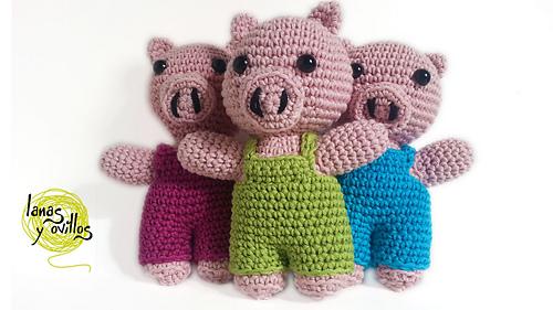 Ravelry: Three Little Pigs Los Tres Cerditos Amigurumi ...
