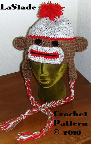 Ravelry: Sock Monkey Hat With Braids for Adults or Teens ...