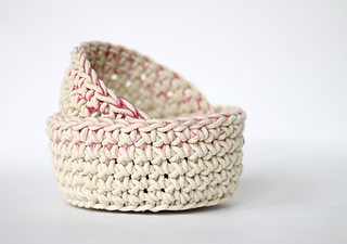 Ravelry Colorblock Crochet Baskets Pattern By Alexis