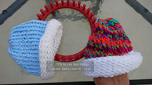 Knitting Loom Patterns Baby Hats : Ravelry: Newborn Loom Knit Baby Hat pattern by Lee Ann Hamm Crochet Gotta Lov...