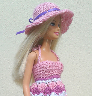 Free Crochet Patterns For Barbie Hats : Ravelry: Barbie crochet summer dress and hat pattern by ...