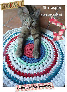 ravelry tapis rond crochet rug pattern by lissou et les couleurs. Black Bedroom Furniture Sets. Home Design Ideas