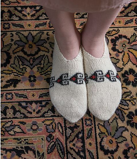 ravelry persian slippers pattern by donna druchunas