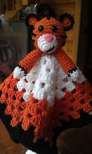 Ravelry Tiger Baby Lovey Pattern By Melody Chastain