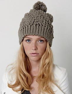 Ravelry: Stepping Texture Hat pattern by Bernat Design Studio