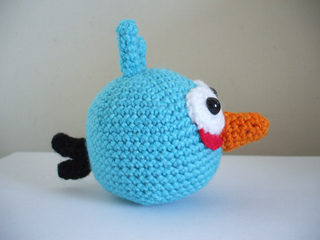 Black Angry Bird Amigurumi Pattern : Ravelry: Angry Birds - Blue Bird pattern by Adorable Amigurumi