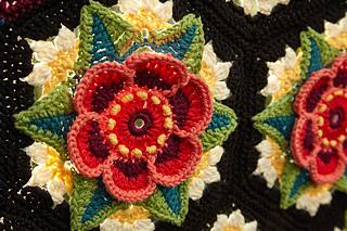 Ravelry Frida S Flowers Blanket Pattern By Jane Crowfoot