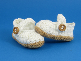 Free Knitted Baby Sandals Pattern : Ravelry: Baby Simple Lace Pattern Sandals pattern by Christine Grant