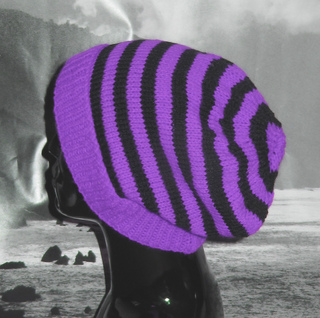 Ravelry: Simple Stripe Slouch Hat pattern by Christine Grant