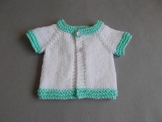 Ravelry: Tiny Topaz - Premature Baby Jacket pattern by marianna mel