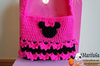 How To Crochet Peppa Pig Purse Bag Free Pattern Tutorial By Marifu6a : Ravelry: crochet minnie mouse purse bag pattern by marifu6a