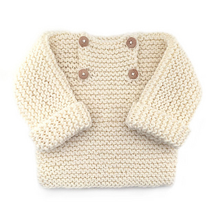 Ravelry Natural Baby Pullover Pattern By Marta Porcel