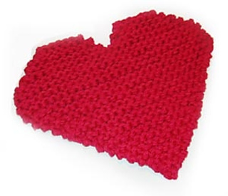 Ravelry: Heart Potholder (knit) pattern by Lion Brand Yarn