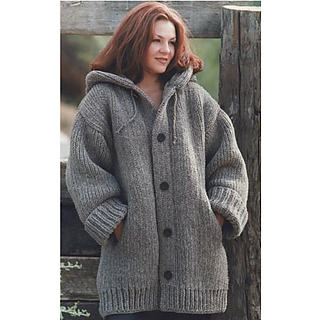 Ravelry: Hand-Knit Danbury Hooded Sweater Jacket pattern by Lion