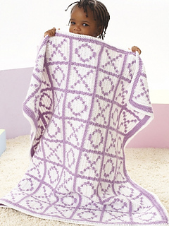 Hugs And Kisses Crochet Baby Blanket Pattern : Ravelry: Hugs and Kisses Blanket pattern by Lorna Miser