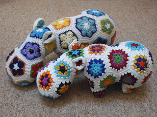 Free Crochet Hexagon Hippo Pattern : Ravelry: Happypotamus The Happy Hippo pattern by Heidi Bears