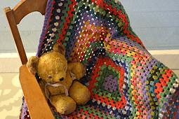 Crochet Granny Square Baby Blanket PDF