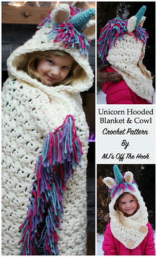 Ravelry: Bulky & Quick Unicorn Blanket /Cowl pattern by MJs Off The ...