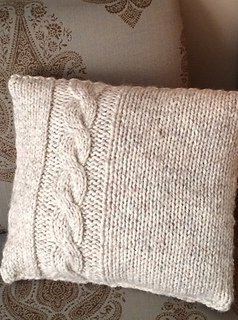 Ravelry Easy Cabled Pillow Pattern By Michelle Lynne