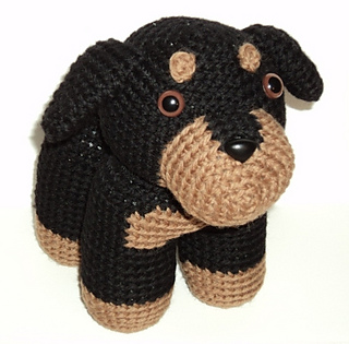 Tinkerbell Amigurumi Free Pattern : Ravelry: Rottweiler pattern by Stacey Trock