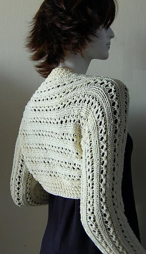 Free Knitting Patterns For Lace Bolero : Ravelry: Knit Lace Rib Shrug pattern by Dawn Leeseman